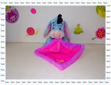 ☻- Doudou Peluche Bourriquet Mouchoir Rose Violet Papillon  Disney Nicotoy