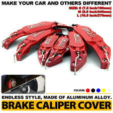 ENDLESS Brake Caliper Cover Red Style Disc Universal Car Front Rear Kit L+M+S