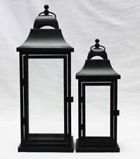 weddings Black large Set of 2 lanterns metal Indoor outdoor  Wedding