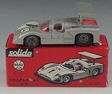 SOLIDO CHAPARRAL 2F BY MARX SPORT CAR 1/43 SCALE SILVER #169 WITH BOX FRANCE