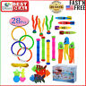 28PCS Diving Toy for Pool Use Underwater Swimming Diving Pool Toy Rings