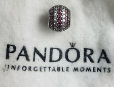 Authentic Pandora Sterling Silver Red Nautical Pave Lights Bead 791172CZR