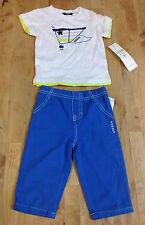 GUESS Kids Baby Boys T-Shirts & pants Set, White/Blue, 3-6M