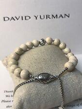 DAVID YURMAN Spiritual Bead Bracelet Sterling Silver With Riverstone 8mm Used