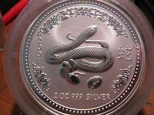 "2001 - AUSTRALIA - PERTH LUNAR -"" YEAR OF THE SNAKE"" - 3 PC. SET - .999 SILVER!!"