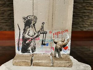 Walled off Hotel Banksy Sculpture Slingshot rat authentic with receipt