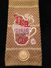 Personalized *Embroidered Monogrammed Tea Hand or Kitchen Towel Made To Order