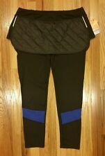 Lucy winter  skirt tight ladies legging with 3M 1120933 Sz XL Black/Blue MSRP$98