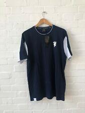 Manchester United FC Men's Panel Logo T-Shirt - XL - Navy - New