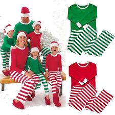 Family Christmas Pajamas Set Women Men Xmas Cotton Homewear Sleepwear Nightwear