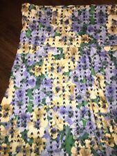 NEW LuLaRoe XL Periwinkle Blue Yellow Green Floral Maxi Skirt Dress