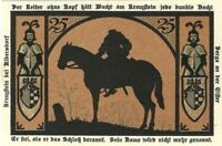 RARE ORIGINAL HEADLESS HORSEMAN BANKNOTE (GERMANY 1921) CRISP UNCIRCULATED COND.