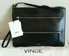 VINCE Signature Black Leather Spring 2016 Crossbody Purse