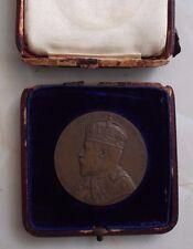 EDWARD VII 1906 LARGE BRONZE MEDAL / MEDALLION IN ORIGINAL SOUTH KENSINGTON BOX.
