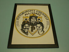 PIRATES GREATEST ALL STARS IRON CITY BEER FRAMED PRINT