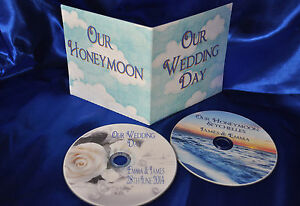 Personalised printed DVD's for your Wedding Day and Honeymoon images with cover