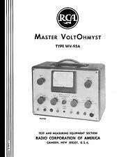 Rca Master Voltohmyst Wv 95a Wv95a Manual