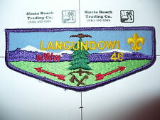 OA Langundowi Lodge 46,F-3, 1970s Restricted Flap,NT,French Creek Counci,Erie,PA