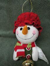 "SNOWMAN CHRISTMAS DOOR KNOW JINGLER ""JANET"" BY AVON NIB"