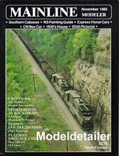 Mainline Modeler Nov.85 NS SD45 C&O 2-6-6-6 Locomotive Pennsy Storefront Baggage