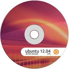 Ubuntu Linux 12.04 LTS 32 Bit Live Desktop DVD Install Disk Replace Windows XP V