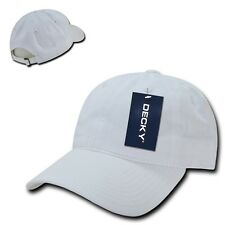 White Low Crown Brushed Plain Solid Blank Golf Baseball Ball Cap Caps Hat Hats
