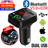 Bluetooth FM Transmitter In Car Radio MP3 Wireless Adapter Car Kit USB Charger 2