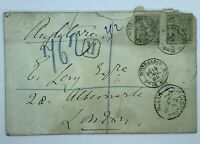 1892 MONTE CARLO MONACO REGISTERED COVER TO LONDON