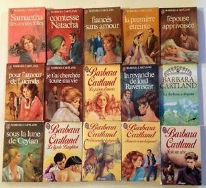LOT de 34 BARBARA CARTLAND roman amour historique livre