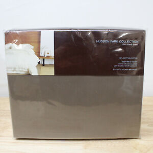 Hudson Park FULL Fitted Sheet 600 TC Egyptian Cotton TRUFFLE BROWN A467