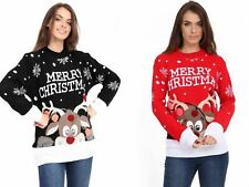 NEW STYLISH LADIES MENS XMAS CHRISTMAS NOVELTY VINTAGE 70'S JUMPER RETRO SWEATER