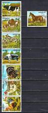 Animaux domestiques Paraguay (205) série complète 8 timbres oblitérés