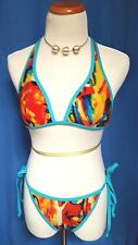 Victoria's Secret Small Top Medium Bottom Bikini Tropical Orange 2 Pc swimsuit