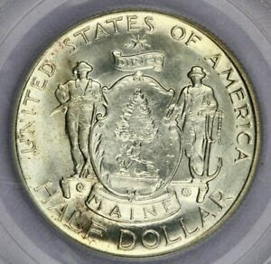 1920-P 1920 Maine Centennial Half Dollar PCGS MS65 OGH Old Green Holder Flashy!