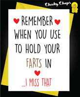 Funny ANNIVERSARY CARD engagement cards wedding wife husband-  FARTS IN  A39