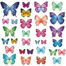 Wandsticker bunte lebhafte Schmetterlinge viele verschiedene Farben