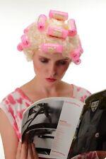 Karneval Perücke Damenperücke Hausfrau Lockenwickler blond trashy Drag Queen