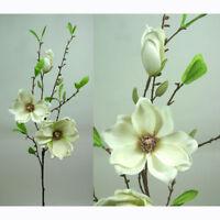 Magnolie Magnolienzweig Kunstblume Seidenblume creme weiß L 73 cm 103528-40 F37