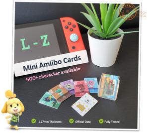 🌱 Animal Crossing: New Horizons | Mini Amiibo Cards L-Z | Nintendo Switch 3DS