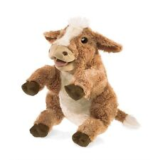 Brown Cow Hand Puppet by Folkmanis MPN 3080, Boys & Girls, 3 & Up