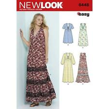 NEW LOOK SEWING PATTERN MISSES' EASY V-NECK DRESSES DRESS SIZE 6 - 18 6448