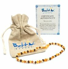 Raw Baltic Amber Necklaces For Babies Anti Inflammatory Drooling 2 Pack