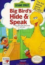 ***SESAME STREET BIG BIRD'S HIDE AND SPEAK NES NINTENDO GAME COSMETIC WEAR~~~