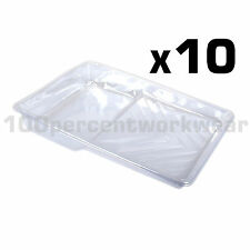 "10 x Prodec Moulded Plastic Tray Liners for 9"" Paint Rollers for Multi Colours"