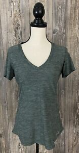 Under Armour Shirt Heat Gear Athletic Medium Fitted Stretchy Green  #1254026