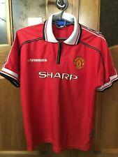 Manchester United 1998 1999 Cup Shirt UMBRO FOOTBALL THIRD JERSEY KIDS SHAPR
