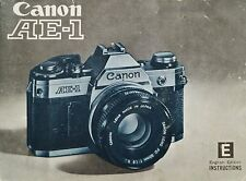 1970s Canon Ae-1 Slr 35mm Camera Owners Instruction Manual -Canon Ae1