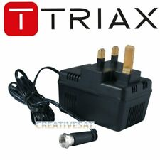 More details for triax tmpr psu power supply 12v 500ma with f-connector- 305289
