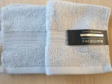 2× Home Collection Luxury 100% Cotton  Zero Twist Super Soft FACECLOTH 30×29 cm