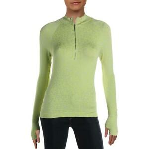 FP Movement by Free People Womens Green Yoga 1/4 Zip Shirt XS/S  3846